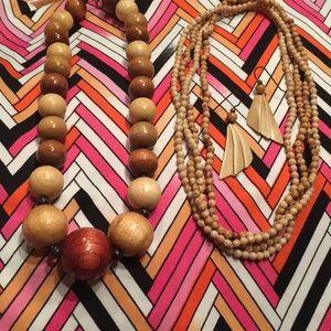 Jewelry - 📿 4PC. WOODEN BEADS ENSEMBLE 📿
